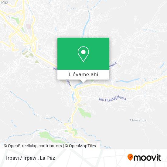 Mapa de Irpavi/Irpawi