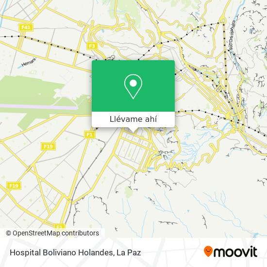 Mapa de Hospital Boliviano Holandes