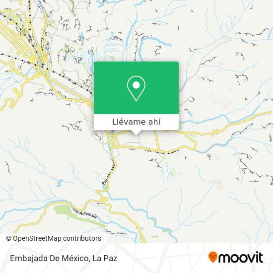 Mapa de Embajada De México