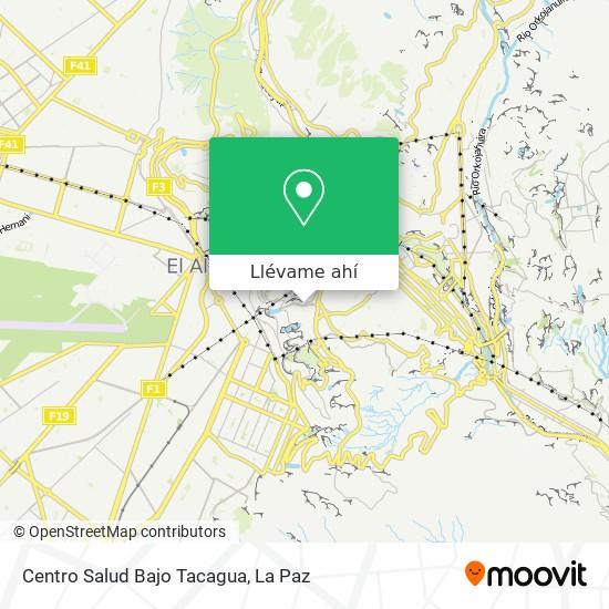 Mapa de Centro Salud Bajo Tacagua