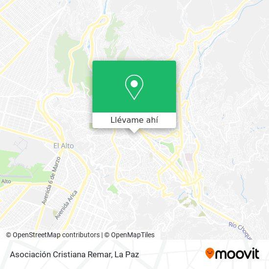 Mapa de Asociacion Cristiana Remar