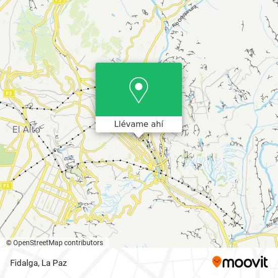 Mapa de Fidalga