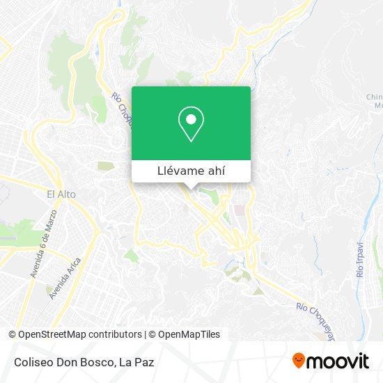 Mapa de Coliseo Don Bosco