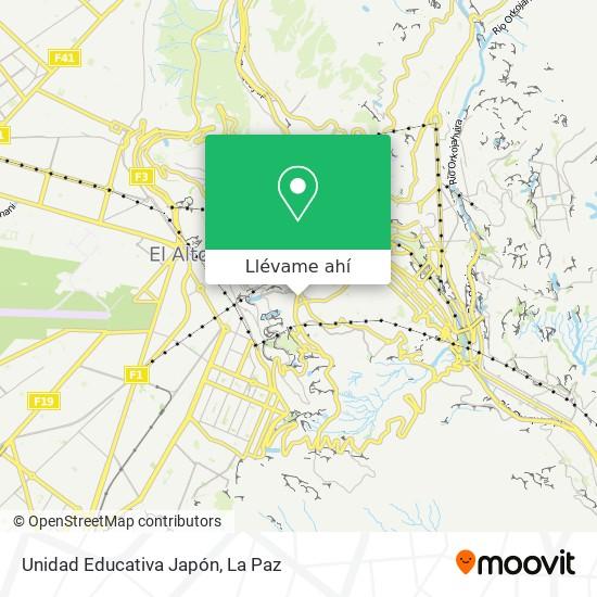 Mapa de Unidad Educativa Japón