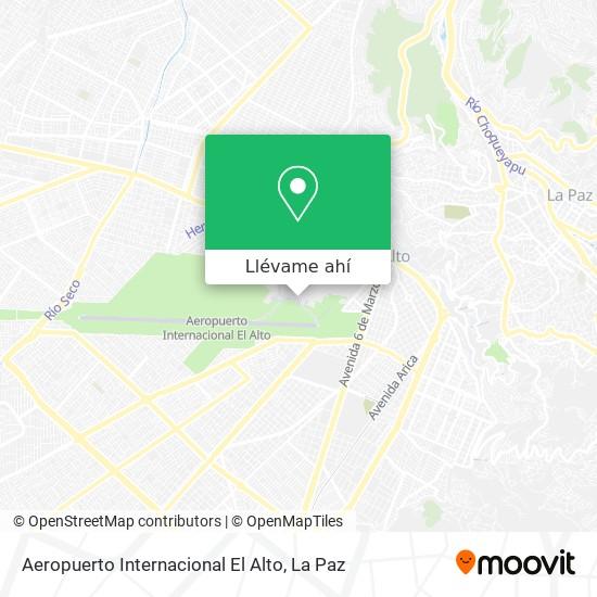 Mapa de Aeropuerto Internacional El Alto
