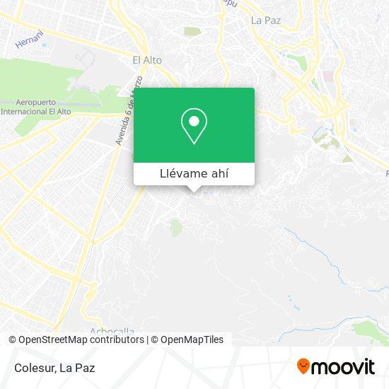 Mapa de Colesur