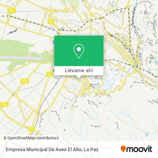 Mapa de Empresa Municipal De Aseo El Alto