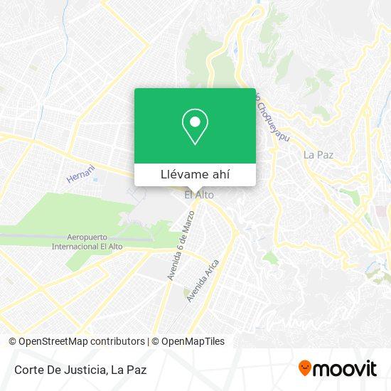 Mapa de Corte De Justicia - El Alto