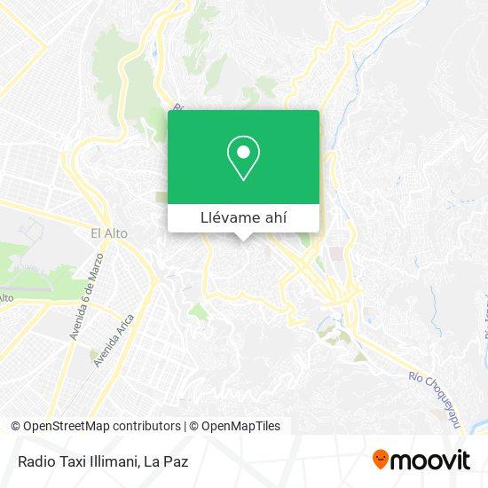Mapa de Radio Taxi Illimani