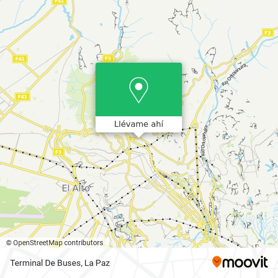 Mapa de Terminal De Buses