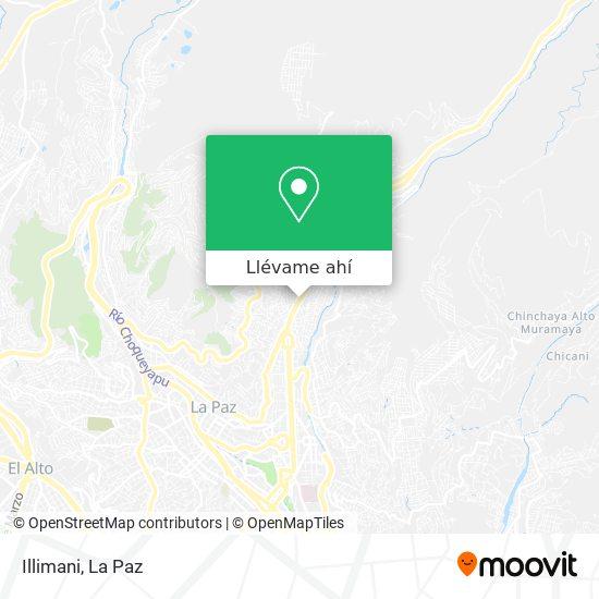 Mapa de Illimani
