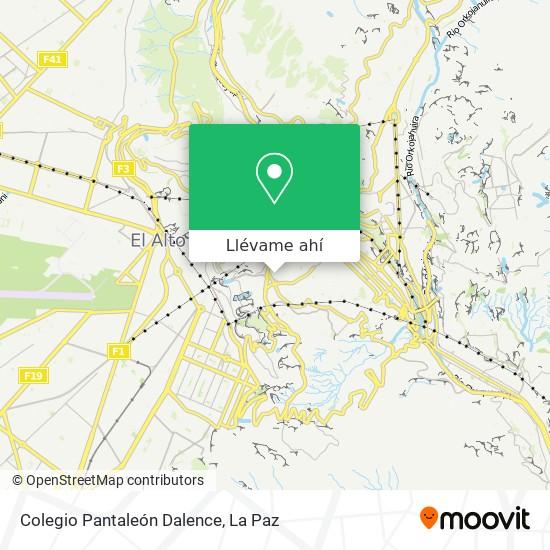 Mapa de Colegio Pantaleón Dalence