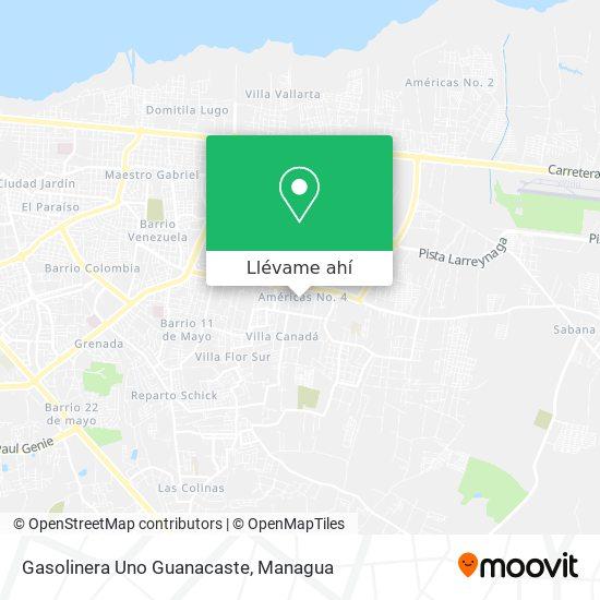 Mapa de Gasolinera Uno Guanacaste