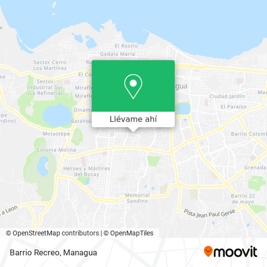 Mapa de Barrio Recreo