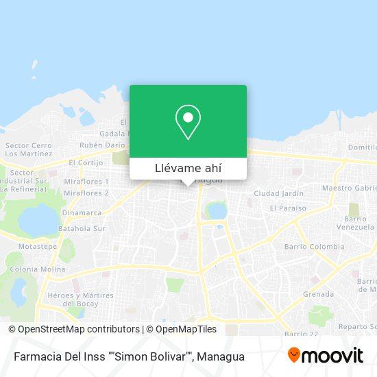 """Mapa de Farmacia Del Inss """"Simon Bolivar"""""""