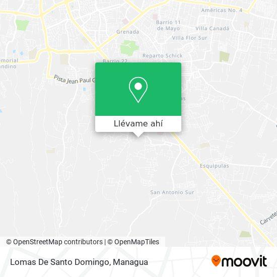 Mapa de Lomas De Santo Domingo