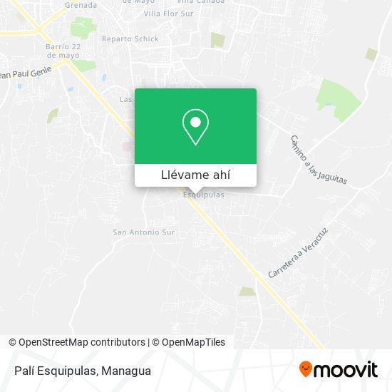 Mapa de Palí Esquipulas