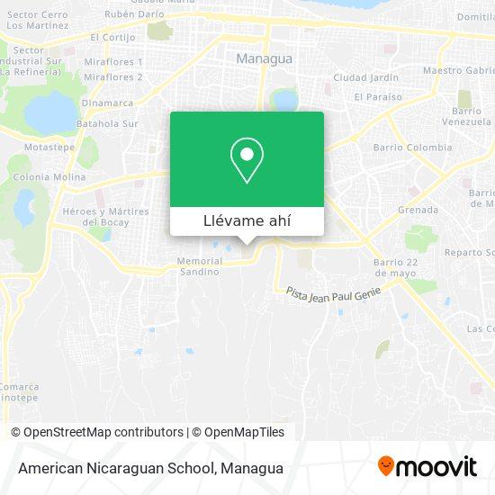 Mapa de American Nicaraguan School - Colegio Americano