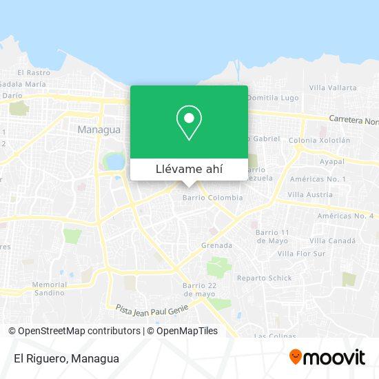 Mapa de Barrio El Riguero