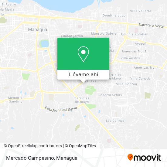 Mapa de Mercado Campesino