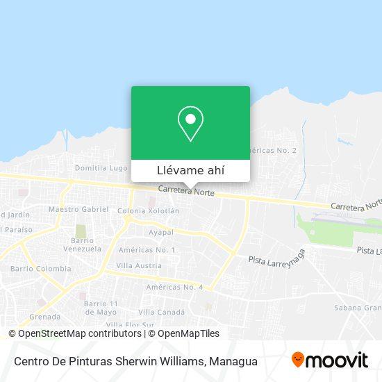 Mapa de Centro De Pinturas Sherwin Williams