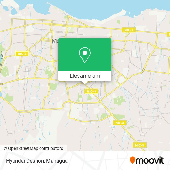 Mapa de Hyundai Deshon