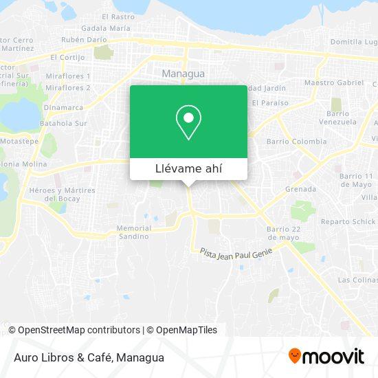 Mapa de Auro Libros & Café