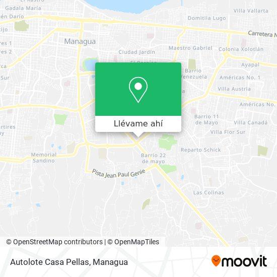 Mapa de Autolote Casa Pellas