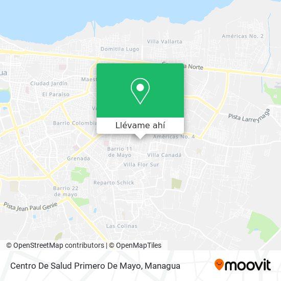 Mapa de Centro De Salud Primero De Mayo