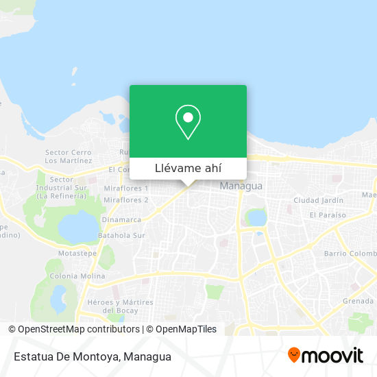 Mapa de Estatua De Montoya