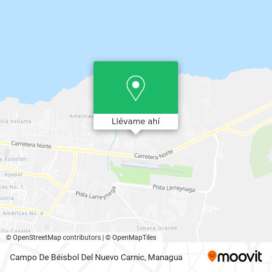 Mapa de Campo De Beisbol Del Nuevo Carnic