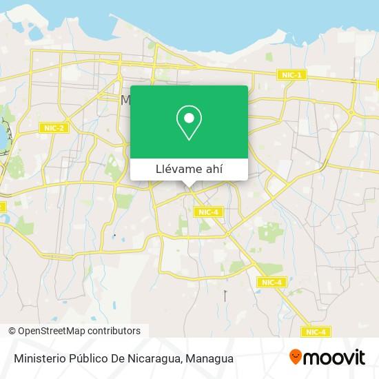 Mapa de Ministerio Público De Nicaragua