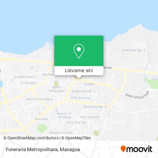 Mapa de Funeraria Metropolitana