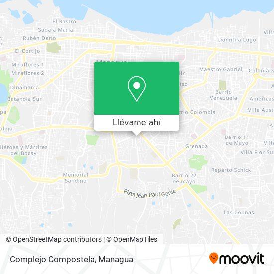 Mapa de Complejo Compostela