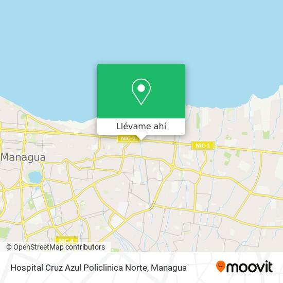 Mapa de Hospital Cruz Azul Policlinica Norte