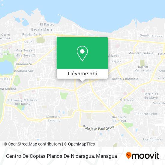 Mapa de Centro De Copias Planos De Nicaragua