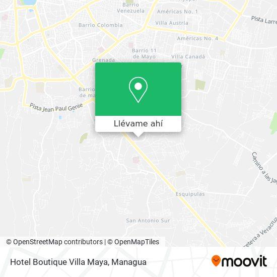 Mapa de Hotel Boutique Villa Maya