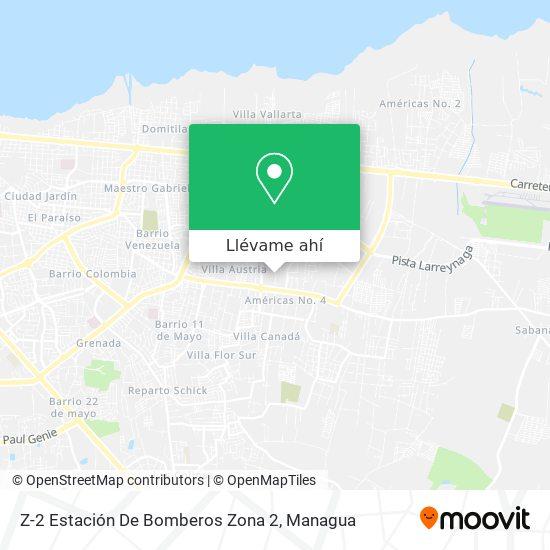 Mapa de Z-2 Estacion De Bomberos  Zona 2