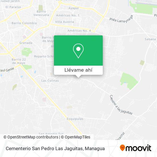 Mapa de Cementerio San Pedro Las Jaguitas