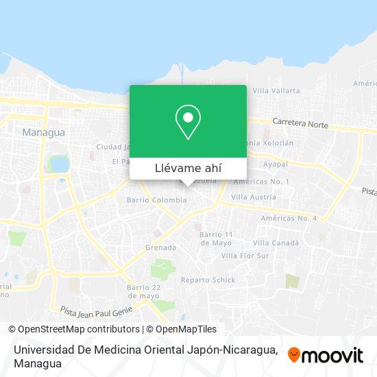 Mapa de Universidad De Medicina Oriental Japón-Nicaragua