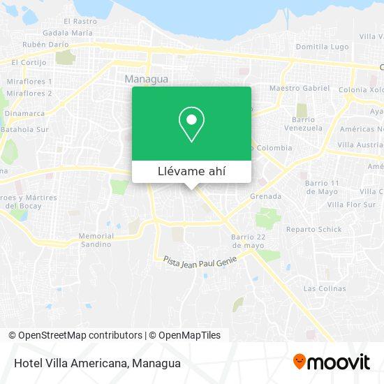 Mapa de Hotel Villa Americana