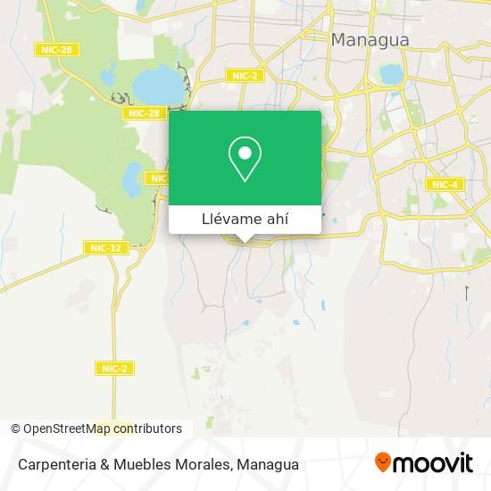 Mapa de Carpenteria & Muebles Morales