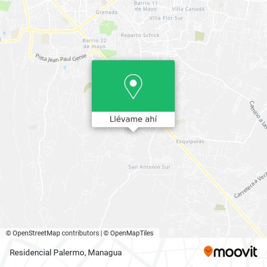 Mapa de Residencial Palermo