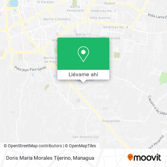 Mapa de Doris Maria Morales Tijerino