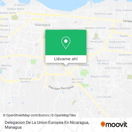 Mapa de Delegacion De La Union Europea En Nicaragua