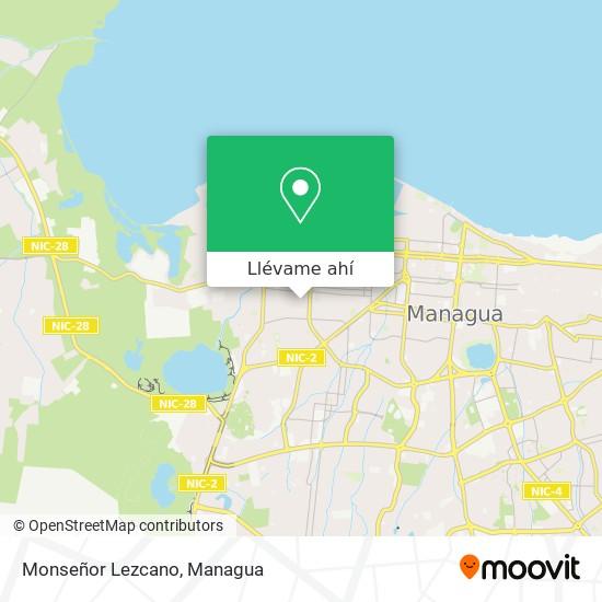 Mapa de Monseñor Lezcano