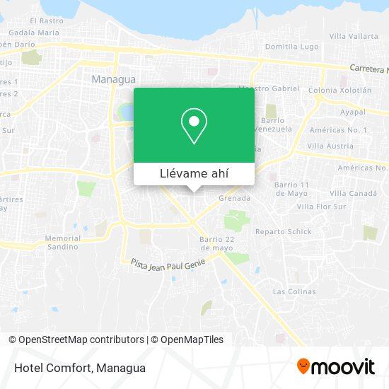 Mapa de Hotel Comfort