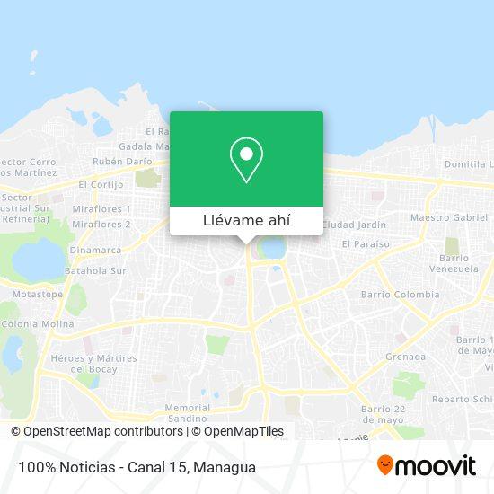 Mapa de 100% Noticias - Canal 15
