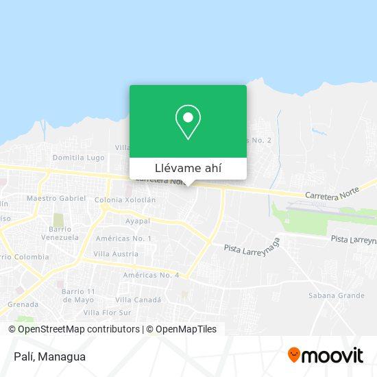 Mapa de Pali