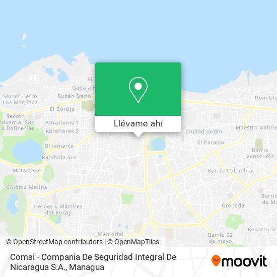 Mapa de Comsi - Compania De Seguridad Integral De Nicaragua S.A.